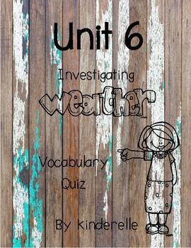 Investigating Weather Vocabulary Quiz
