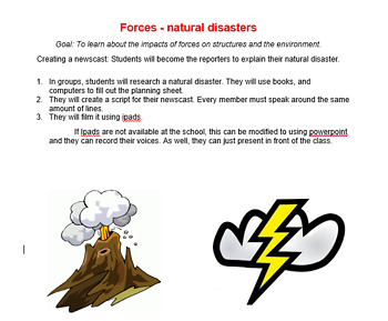 Investigating natural disasters