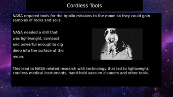 Investigating space technology in the home powerpoint presentation