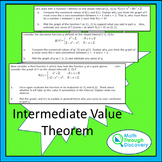 Calculus:  Intermediate Value Theorem - An Investigation