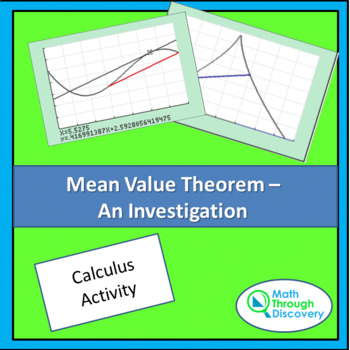 Mean Value Theorem - An Investigation