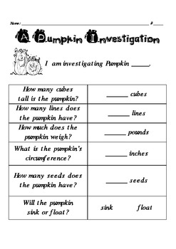Investigating with Pumpkins