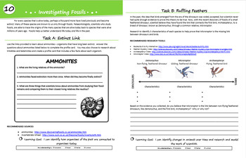 Investigation Ammonites and Dinosaur Fossils (Diversity of Life Activity 10)