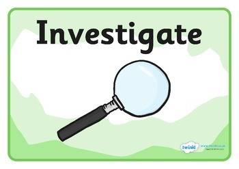 Investigation Area Word Display Posters