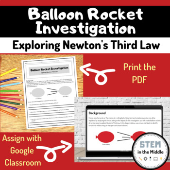 Investigation - Balloon Rockets (Newton's Third Law PS2.A)