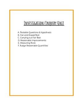 Investigation/Inquiry Unit