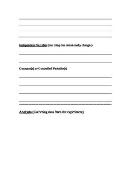 Investigation Lab Sheet