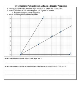 Investigation: Perpendicular and Angle Bisectors