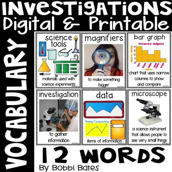 Investigation Vocabulary Word Posters
