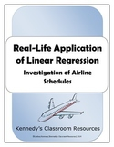 Investigation of Airline Schedules: Real-Life Application of Linear Regression