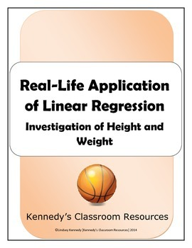 Investigation of Height and Weight: Real-Life Application of Linear Regression