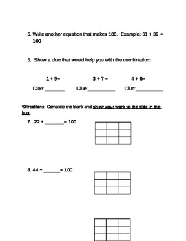 Investigations 3rd grade Unit 1 Session 2 Quiz - Number Line