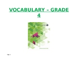 Investigations Math Grade 4 Vocabulary