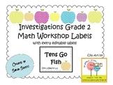 Investigations Math Workshop Labels - Editable