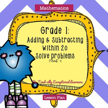 Investigations Mathematics Adding and Subtracting within 20 to Solve Problems