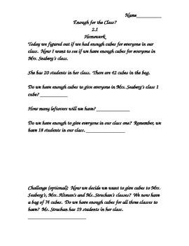 Investigations (TERC) Supplemental Materials Unit 1 Grade 2