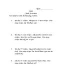 Investigations (TERC) End of Unit 6 Second Grade Math Assessment