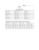 Investigations (TERC) Supplemental Materials Unit 3 Grade 2