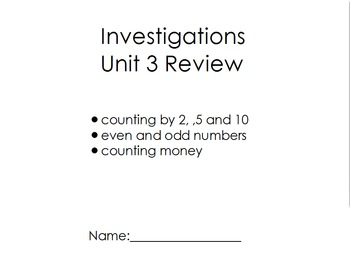 Investigations Unit 3 Digital Review