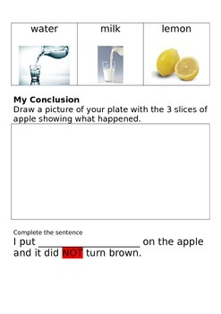 Investigations with apples