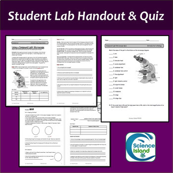 Microscope Lab Using A Compound Light Microscope By Science Island