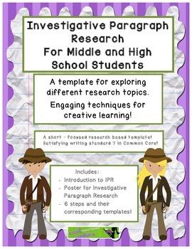 Investigative Research - W.7.- Paragraph Research Template