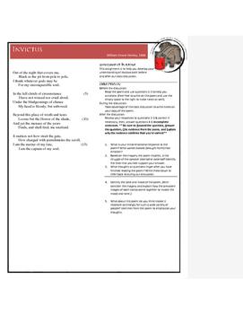 Invictus Class Discussion Guide