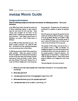 Invictus Movie Guide