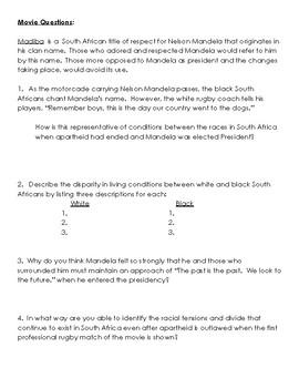 Invictus Video Guide (Mandela)