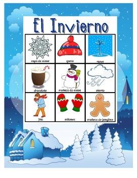 Invierno Bingo Game