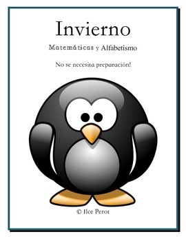 Winter Activities in Spanish Math and Literacy K, 1st and