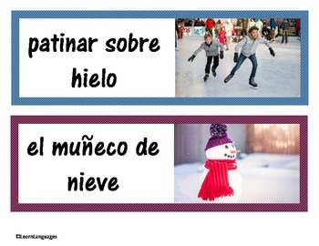 Invierno - Winter Words for the Spanish classroom