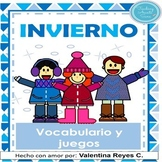 Invierno - Winter in Spanish Flashcards and games
