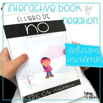 Invierno or Winter Negation Interactive Book for Spanish Speech Therapy