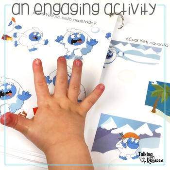 Invierno or Winter con Yeti Negation Interactive Book for Spanish Speech Therapy