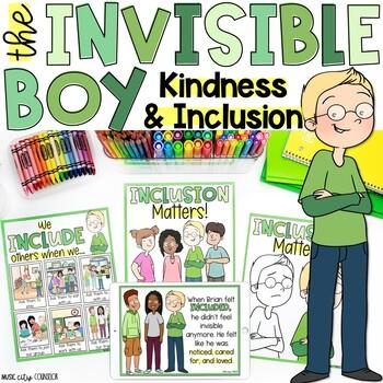Invisible Boy K & 1st Grade Companion: Lesson and Activity!