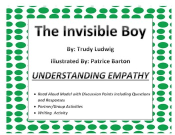 Invisible Boy Read Aloud with Q and A, Opinion Writing, and Main Idea Activities