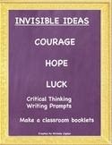 Invisible Ideas Pacakge Courage, Hope and Luck Social Emotional Learning