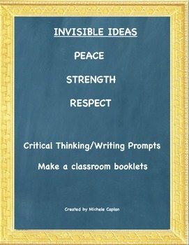 Invisible Ideas Pacakge Peace, Strength, Respect  Social Emotional Learning