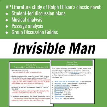 Invisible Man Unit for AP Literature or American Literature