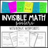 Invisible Math Posters and Worksheets