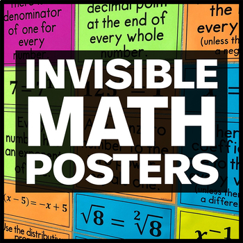 Invisible Math Posters and Worksheet
