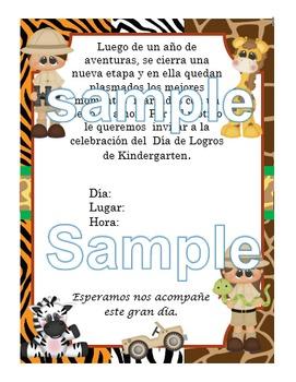 Invitación Motivo Safari