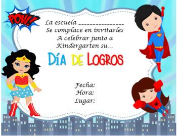 Invitación Promoción Motivo Super Héroes