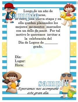 Invitación día de  Logros - Motivo Playero