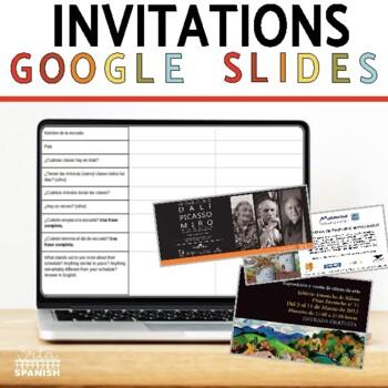 Invitaciones a una Galería de Arte: Online Interactive Activity