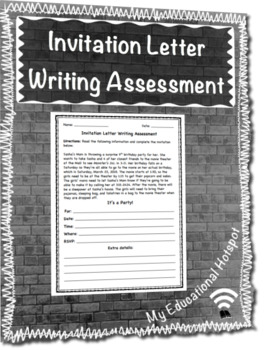 Invitation Letter Writing Assessment