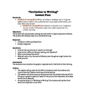 Invitation To Writing: Lesson Plan and Graphic Organizer