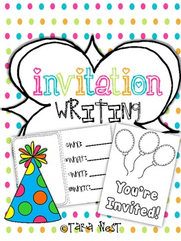 Invitation Writing {for young writers}