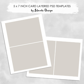 Invitation Card Template To Make 5x7 Inch And 7x5 Inch Cards Psd Layered File